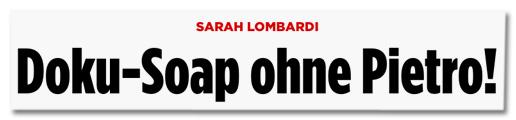 Sarah Lombardi - Doku-Soap ohne Pietro!