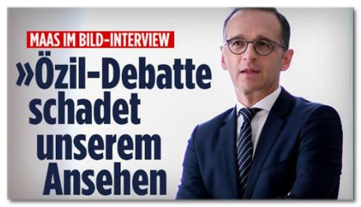 Screenshot Bild.de - Maas im Bild-Interview - Özil-Debatte schadet unserem Ansehen