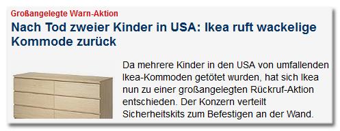 Focus Online Ruft 27 Millionen Ikea Kommoden Zuruck Bildblog