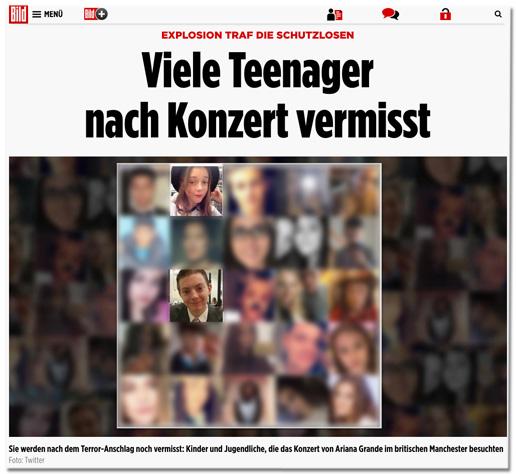 Explosion traf die Schutzlosen - Viele Teenager nach Konzert vermisst