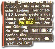 """""""Für BILD war Dursun Gündogdu von der großen türkischen Tageszeitung Hürriyet vor Ort."""""""