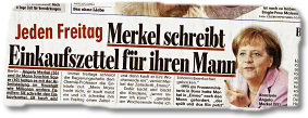 Merkels Einkaufszettel in Bild