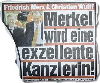 Friedrich Merz & Christian Wulff: Merkel wird eine exzellente Kanzlerin!