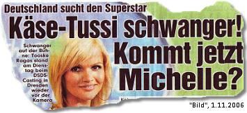 Käse-Tussi schwanger! Kommt jetzt Michelle?