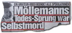 """""""Ein Amateur-Video beendet alle Spekulationen: Möllemanns Todes-Sprung war Selbstmord"""""""