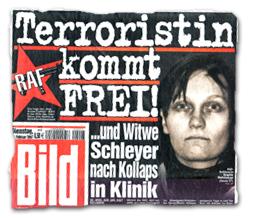 Terroristin kommt FREI! ...und Witwe Schleyer nach Kollaps in Klinik