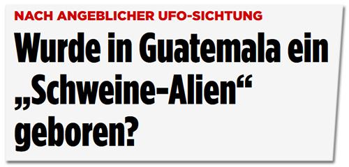 Wurde in Guatemala ein Schweine-Alien geboren?