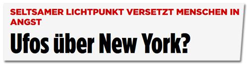 Ufos über New York?
