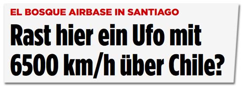 Rast hier ein Ufo mit 6500 km/h über Chile?