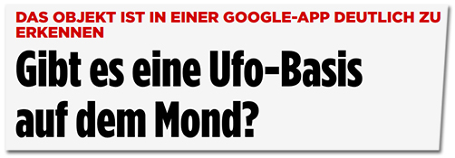 Gibt es eine Ufo-Basis auf dem Mond?