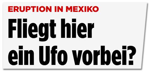 Fliegt hier ein Ufo vorbei?