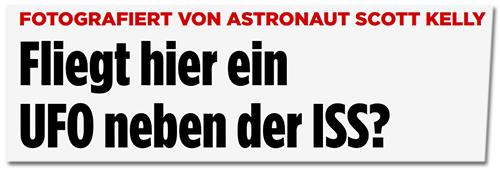 FLiegt hier ein UFO neben der ISS?