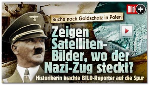 Suche nach Goldschatz in Polen - Zeigen Satelliten-Bilder, wo der Nazu-zug steckt? - Historikerin brachte BILD-Reporter auf die Spur