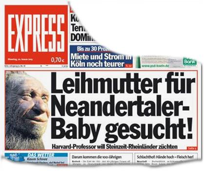 Leihmutter für Neanderthaler-Baby gesucht! Harvard-Professor will Steinzeit-Rheinländer züchten
