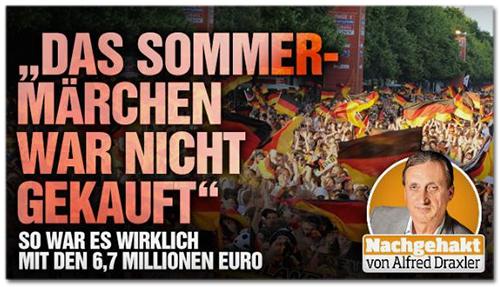 Screenshot Bild.de - Das Sommermärchen war nicht gekauft - So war es wirklich mit den 6,7 Millionen Euro