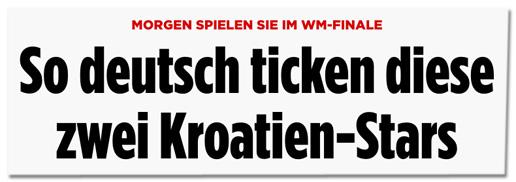 Screenshot Bild.de - Morgen spielen sie im WM-Finale - So deutsch ticken diese zwei Kroatien-Stars