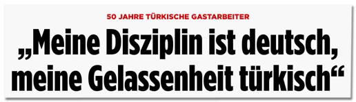 Screenshot Bild.de - 50 Jahre türkische Gastarbeiter - Meine Disziplin ist deutsch, meine Gelassenheit türkisch