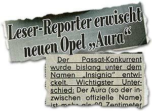 """""""Leser-Reporter erwischt neuen Opel"""
