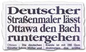 """Deutscher Straßenmaler lässt Ottawa den Bach runter gehen"""