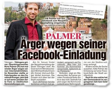 PALMER: Ärger wegen seiner Facebook-Einladung