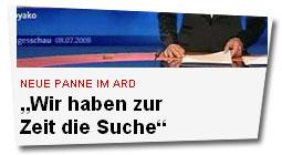 """""""Neue Panne im ARD:"""