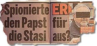 Spionierte ER den Papst für die Stasi aus?