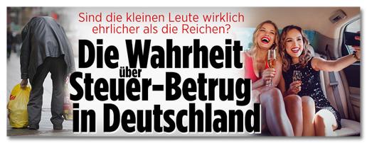Screenshot Bild.de - Sind die kleinen Leute wirklich ehrlicher als die Reichen? Die Wahrheit über Steuer-Betrug in Deutschland