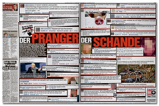 BILD-Doppelseite: 'DER PRANGER DER SCHANDE'