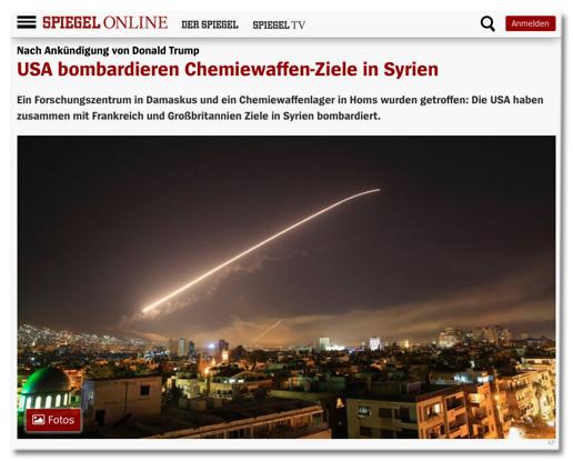 Screenshot Spiegel Online, der die Verwendung des Fotos zeigt - Foto-Beschreibung weiter hinten im Text