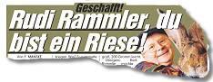 Geschafft! Rudi Rammler, du bist ein Riese!