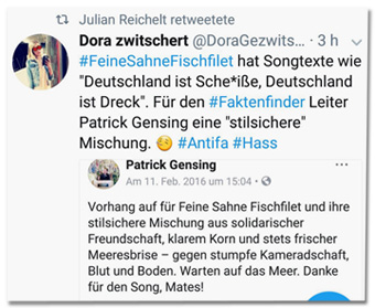 Bildergebnis für patrick gensing faktenfinder mob hetze feine sahne fischfilet