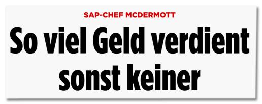 Screenshot Bild.de - SAP-Chef McDermott - So viel Geld verdient sonst keiner