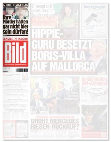 Ausriss Bild-Zeitung - Sechs Tote klagen an - Ihre Mörder hätten gar nicht hier sein dürfen