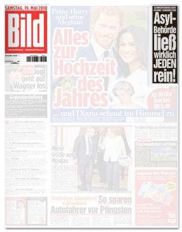 Ausriss Bild-Zeitung - Asyl-Behörde ließ wirklich jeden rein