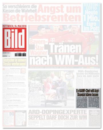 Ausriss Bild-Zeitung - Ex-BAMF-Chef will Asyl-Skandal klären lassen