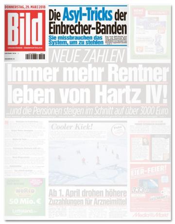 Ausriss Bild-Zeitung - Die Asyl-Tricks der Einbrecher-Banden