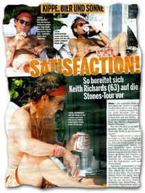 """Satisfaction! So bereitet sich Keith richards (63) auf die Stones-Tour vor"""