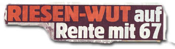 RIESEN-WUT auf Rente mit 67