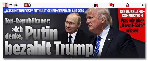 Washington Post enthüllt Geheimgespräch aus 2016 - Top-Republikaner: Ich denke, Putin bezahlt Trump