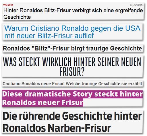 Die Wahre Traurige Geschichte Hinter Cristiano Ronaldos Neuer Frisur