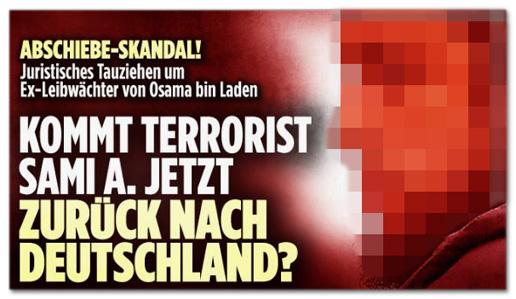 Screenshot Bild.de - Abschiebe-Skandal! Juristisches Tauziehen um Ex-Leibwächter von Osama bin Laden - Kommt Terrorist Sami A. jetzt zurück nach Deutschland?