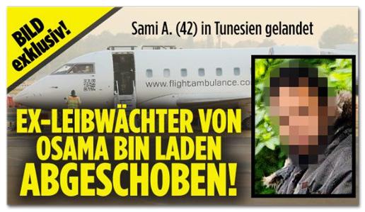 Screenshot Bild.de - Ex-Leibwächter von Osama bin Laden abgeschoben!