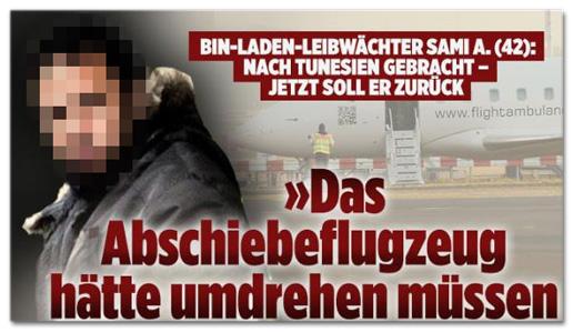 Screenshot Bild.de - Bin-Laden-Leibwächter Sami A. nach Tunesien gebracht. Jetzt soll er zurück