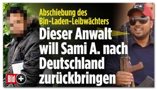 Screenshot Bild.de - Abschiebung des Bin-Laden-Leibwächters - Dieser Anwalt will Sami A. nach Deutschland zurückbringen