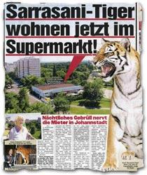 """""""Sarrasani-Tiger wohnen jetzt im Supermarkt!"""""""