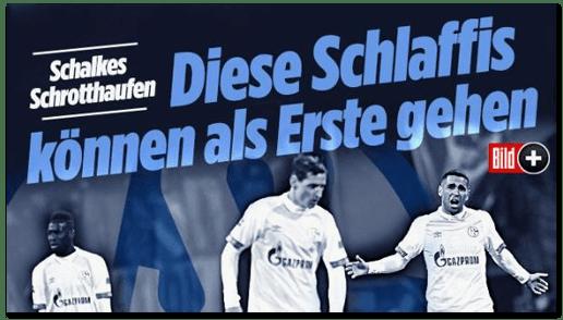 Screenshot Bild.de - Schalkes Schrotthaufen - Diese Schlaffis können als Erste gehen