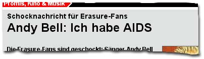 Andy Bell: Ich habe AIDS