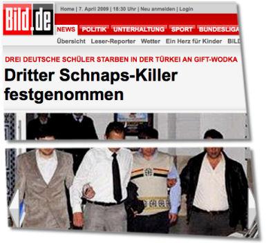 Dritter Schnaps-Killer festgenommen