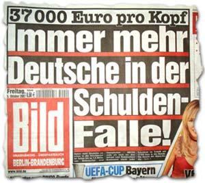 """""""37 000 Euro pro Kopf: Immer mehr Deutsche in der Schuldenfalle!"""""""