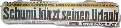 Schumi kürzt seinen Urlaub